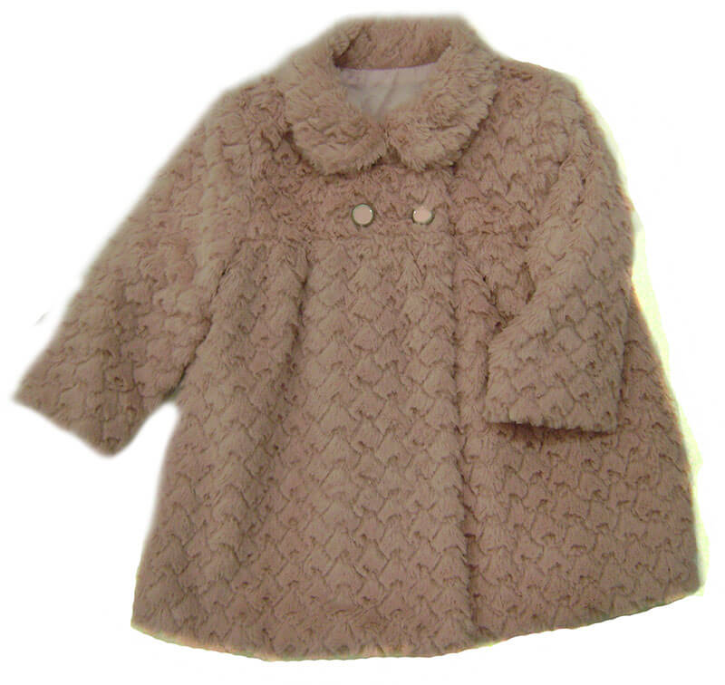 Abrigo bebé pelo rosa Anavig. Abrigos de bebé en oferta. Envío ... 864aa1d2a60