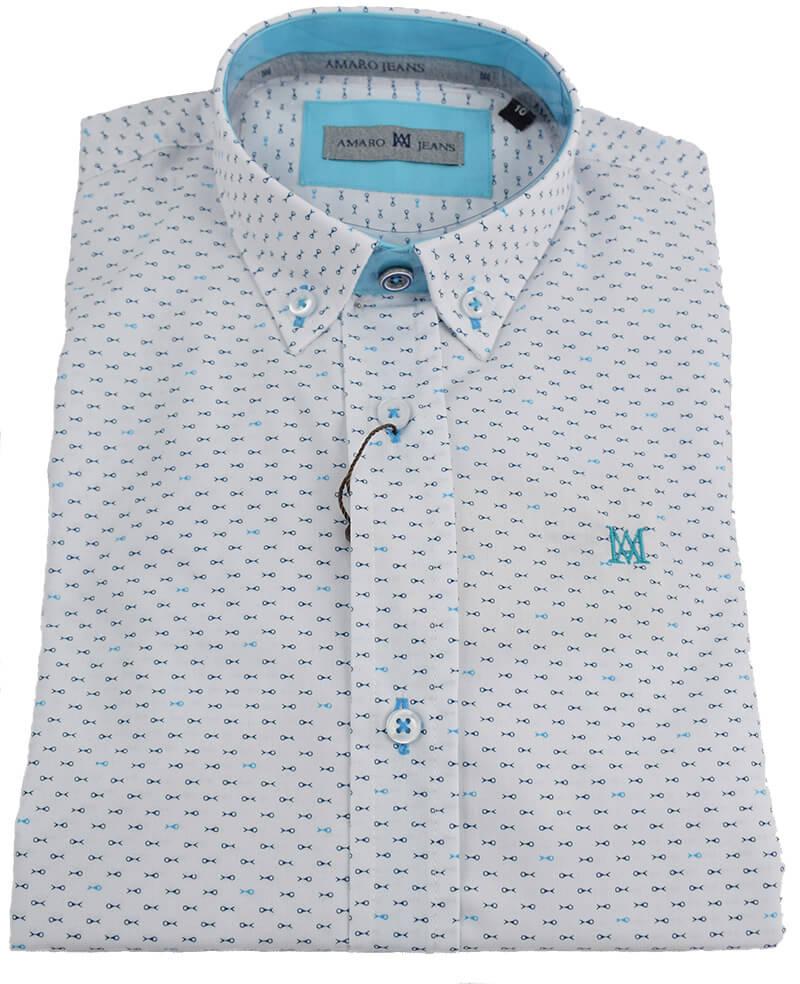 c27bb356e Camisa de niño peces. Camisa de niño estampado de peces en color ...