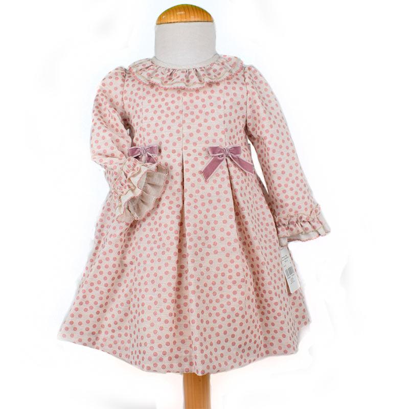 0336f99ec Foto 1 de Vestido topitos bebé 240819, REBAJAS INVIERNO, en Dedos Moda  Infantil,