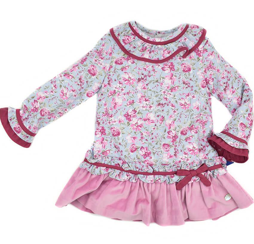 dfe0eaf34 Vestido infantil estampado Basmartí. Nueva colección moda infantil ...