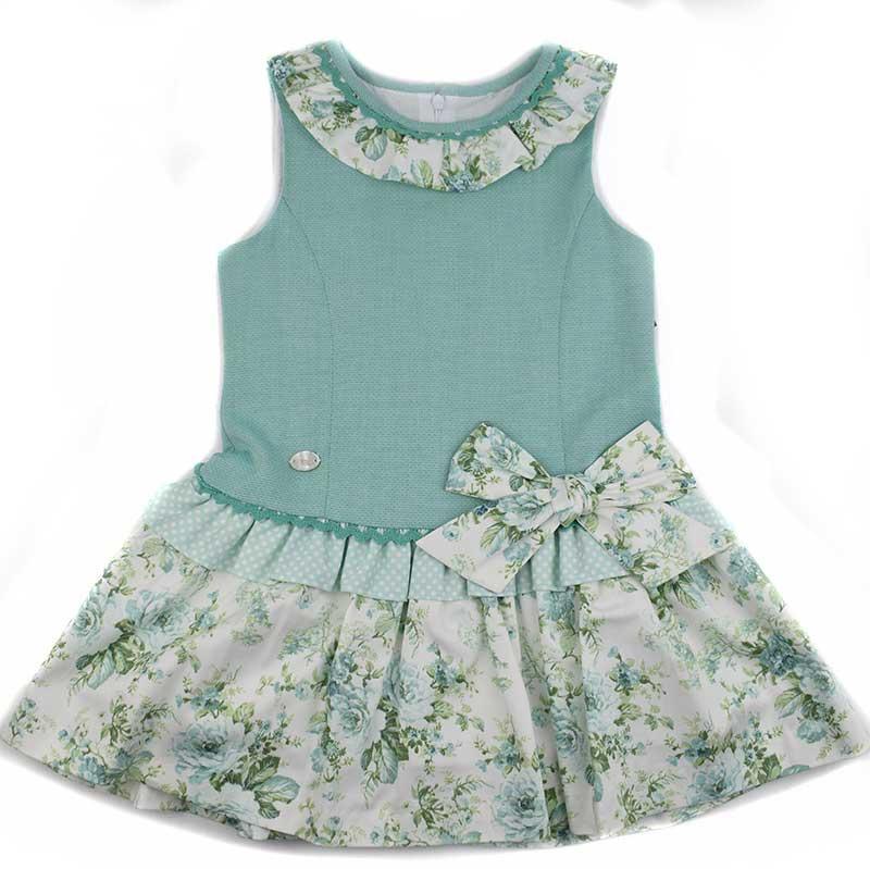 7bd0f6943 Vestido infantil Basmarti 18130. Vestidos de niña colección 2018 ...