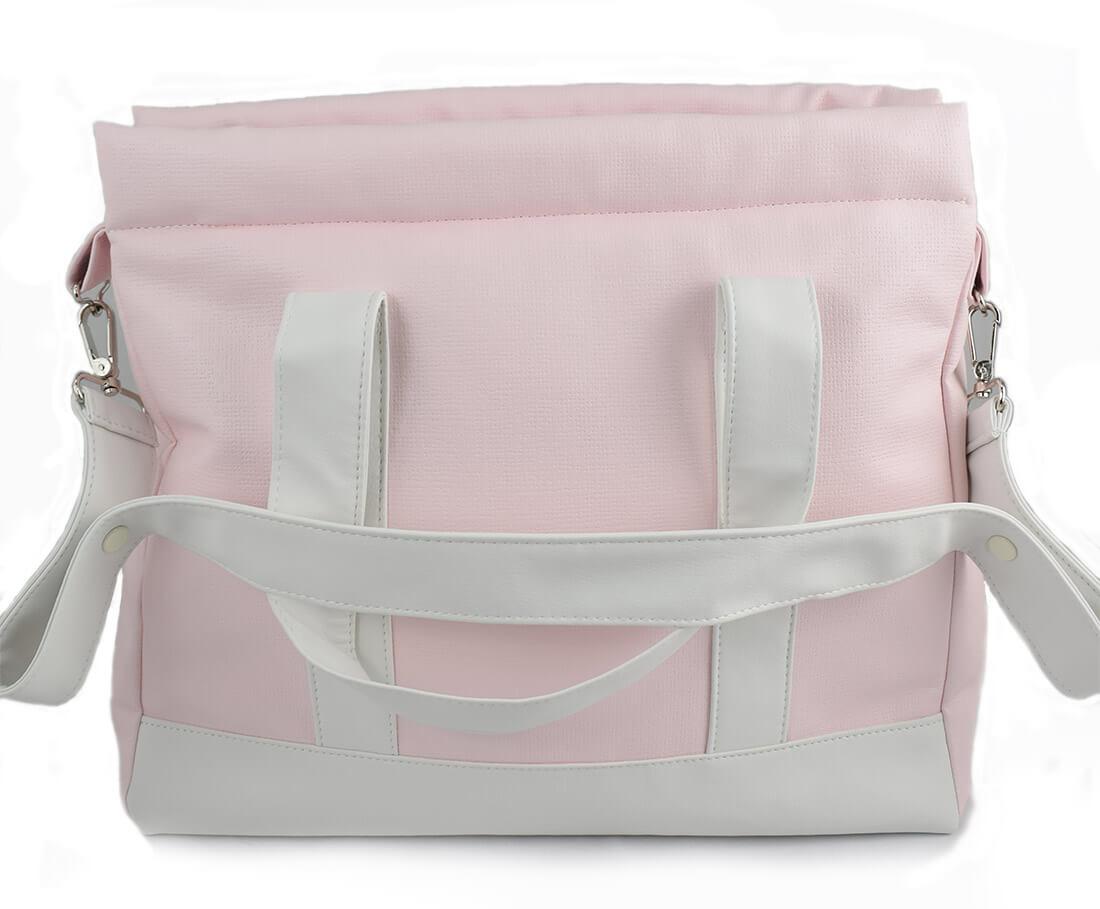 Bolso panera en color rosa