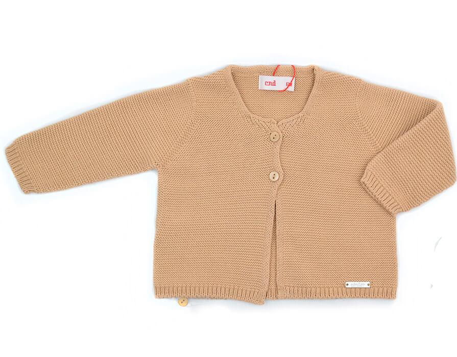Chaqueta punto cintura camel Cóndor. Nueva colección moda infantil ... ae7c858f31f6