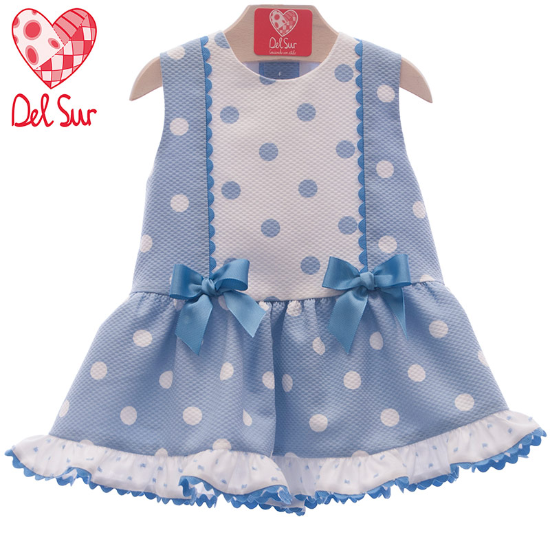 960eb0f50 Vestido bebé 382 Del Sur Celeste. Vestidos y trajecitos de bebé para ...