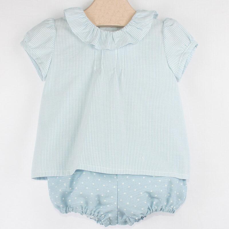 3c597c170 Conjunto bombacho con camisa de bebé. Conjunto de vestir para bebé ...