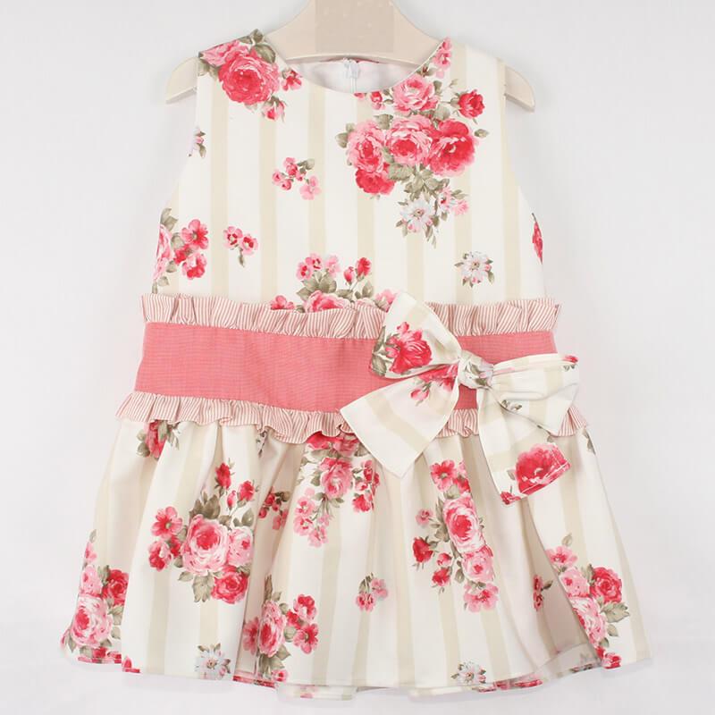 Vestido Para Niña Estampado Coral