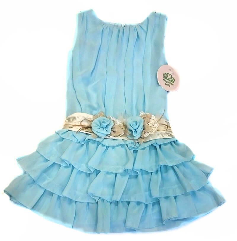 1c3400d852 Vestido celeste niña arras. Outlet moda infantil. Rebajas - Ofertas ...