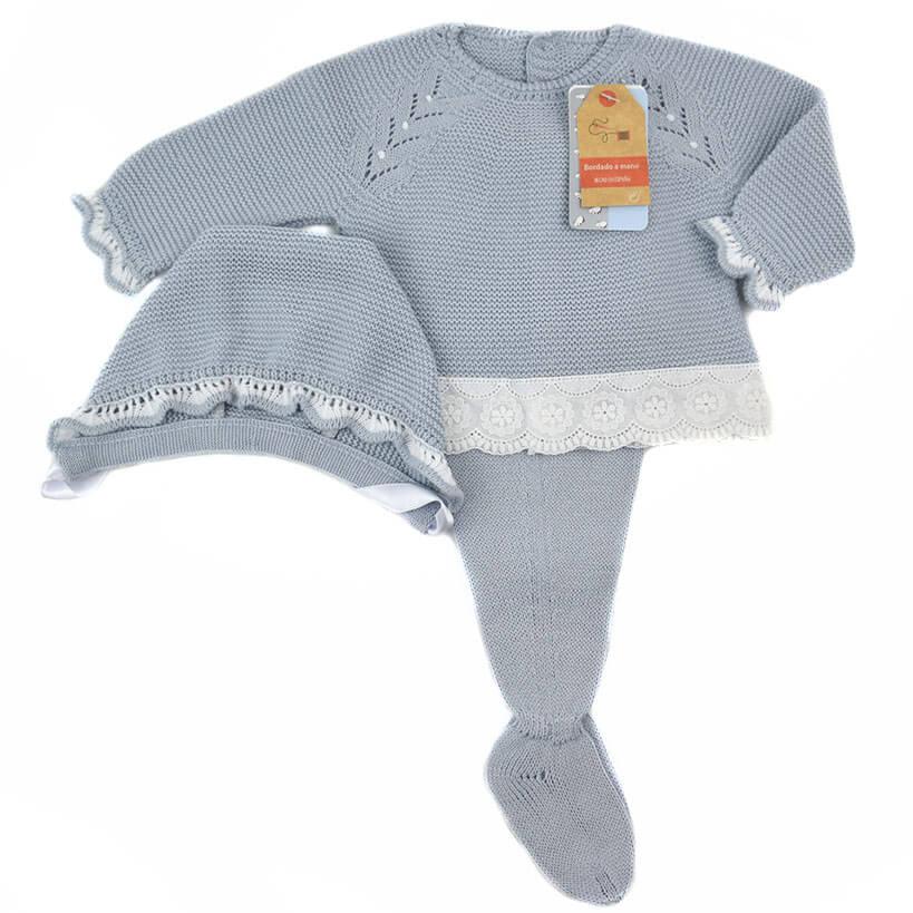 Conjunto bebé recién nacido bordado perla Mac Ilusion. Conjunto bebé ...