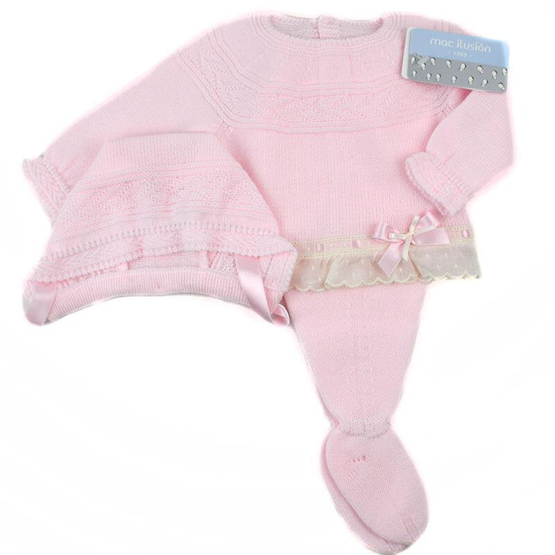 5d4451649 Traje recién nacido rosa beige Mac. Nueva colección moda infantil ...