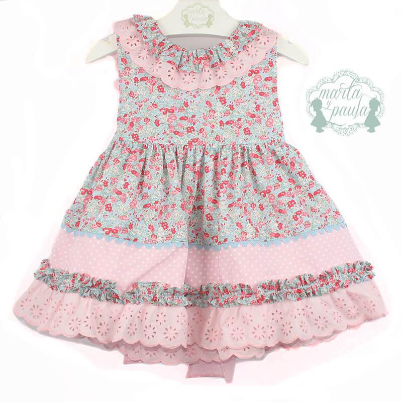 a095c5a55795 Foto 1 de Vestido de niña flor liberty rosa, OUTLET VERANO, en Dedos Moda