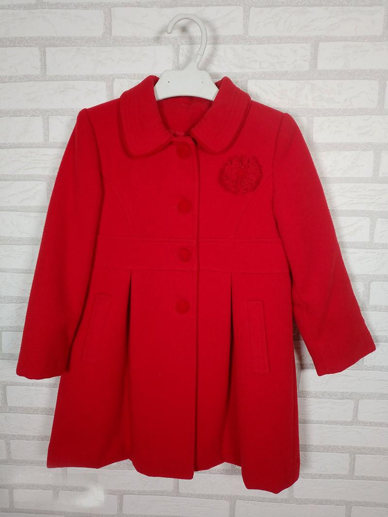 54c47fb46 Abrigo paño infantil rojo 5502 anavig. Abrigo de paño niña rojo de ...