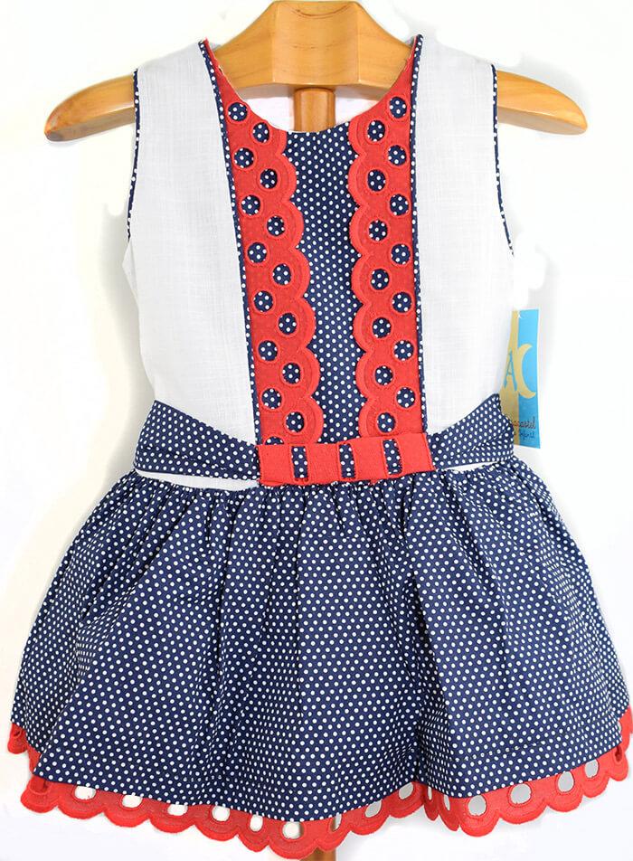 0ce111c8b Foto 1 de Vestido de niña sin mangas con adornos en rojo, OUTLET VERANO, ...