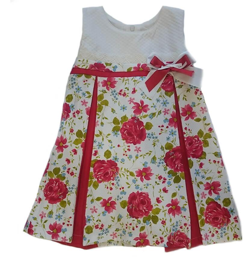 901e0c162 vestido niña estampado flores rojas Babyferr. Outlet moda infantil ...