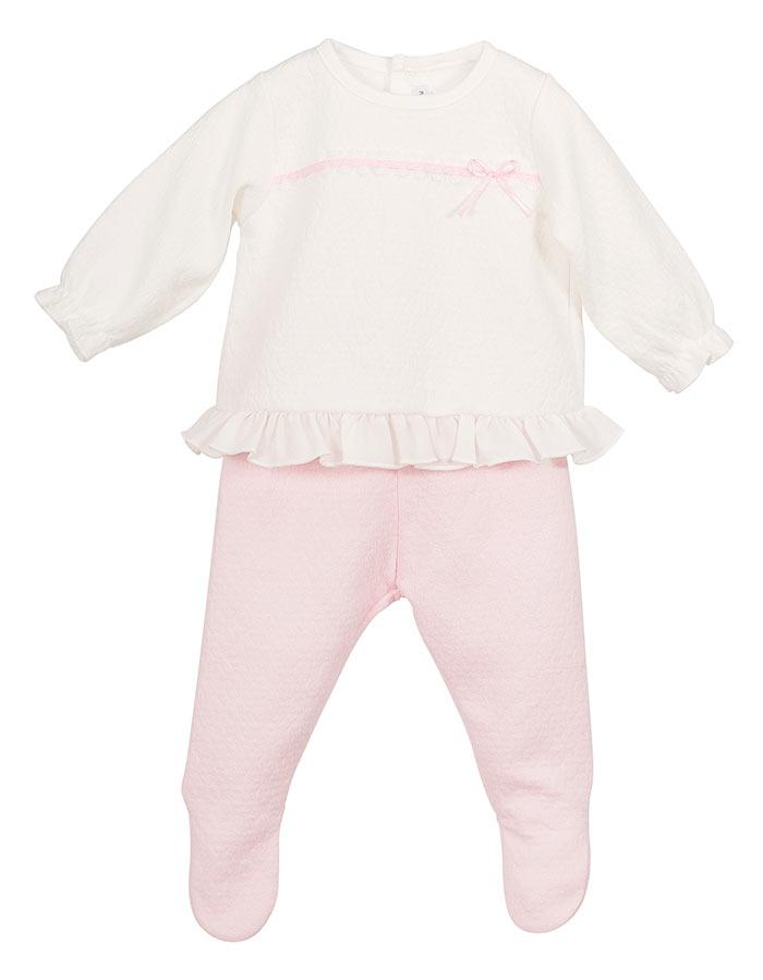 2c31d10d7 Conjunto bebé 17353 Calamaro. Conjunto bebé algodón manga larga ...