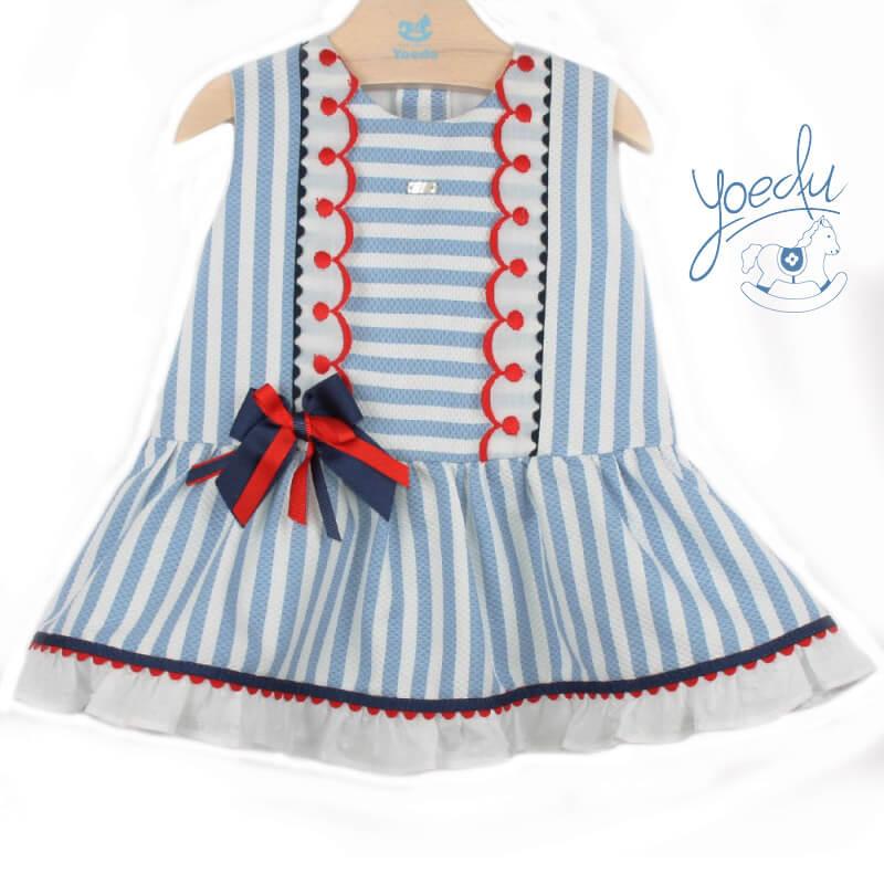 451bf0d05 Foto 1 de Vestido de bebé marinero, OUTLET VERANO, en Dedos Moda Infantil,
