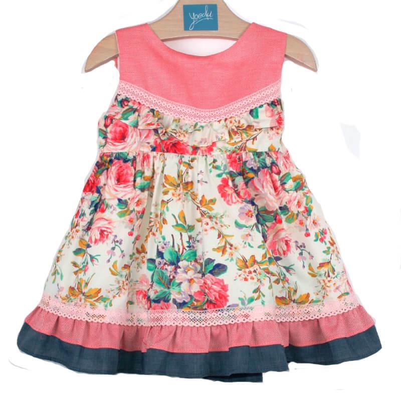 3838ec85f9e Vestido niña infantil 518 Yoedu. Vestido de niña primavera estampado ...