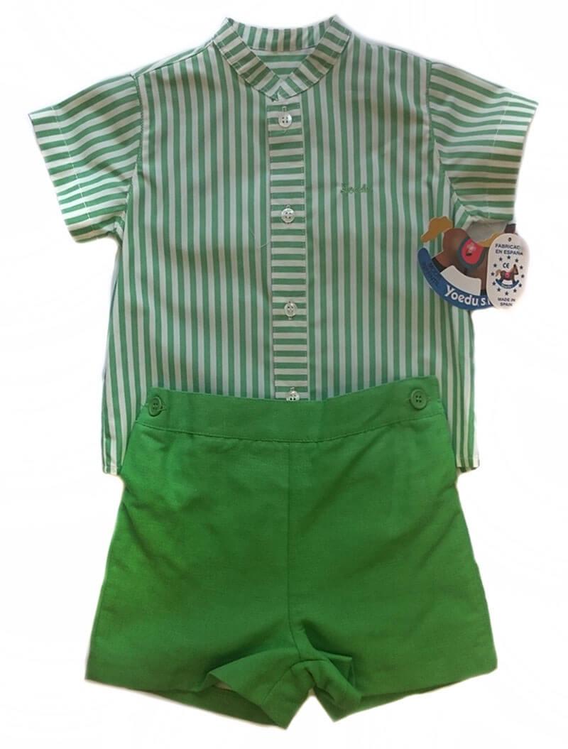 Conjunto pantalón con camisa bebé de Yoedu. en Dedos Moda Infantil-