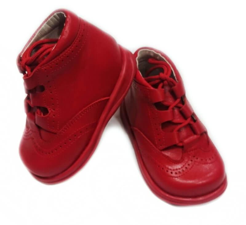 en venta apariencia estética hermosa y encantadora Zapato niño ingles tipo bota de color rojo mod 9111 de bambi