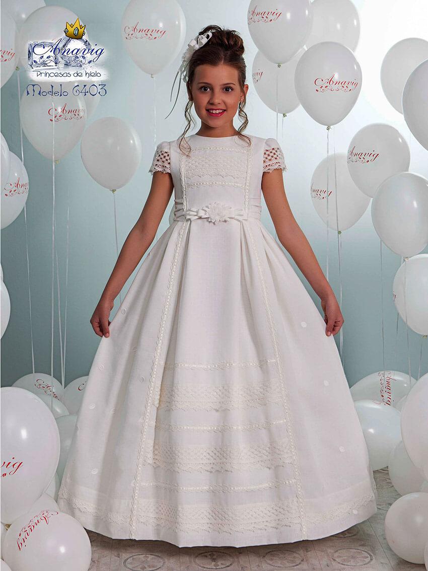 0453ff714b Vestido de comunión 6403 de Anavig. Vestidos de comunión baratos ...